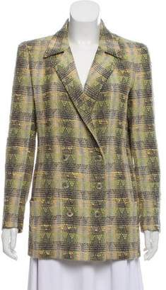 Chanel Double-Breasted Tweed Blazer