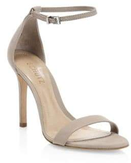Schutz Cadey-Lee Suede Ankle-Strap Sandals