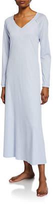 Hanro Pure Essence Long-Sleeve Long Nightgown
