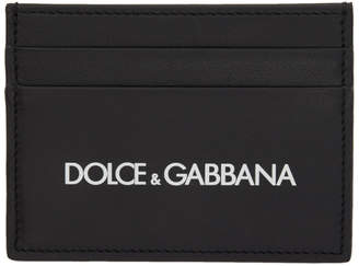 Dolce & Gabbana Black Rubberized Logo Card Holder