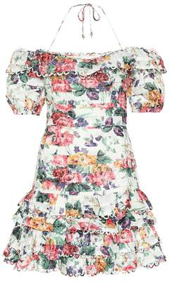 Zimmermann Allia floral linen minidress