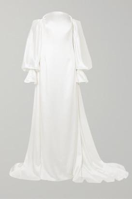 Carolina Herrera Off-the-shoulder Satin Gown - White