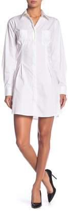 KENDALL + KYLIE Kendall & Kylie Long Sleeve Corset Detailed Shirtdress