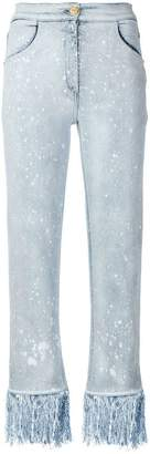 Balmain fringed jeans