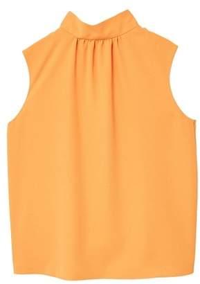 MANGO Tie-neck blouse