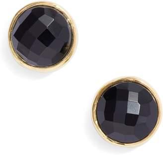 Argentovivo Stone Stud Earrings