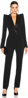 Thierry Mugler Crepe Tuxedo Jumpsuit