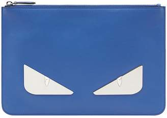 Fendi Eyes zipped pouch