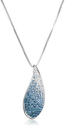 Swarovski Sterling Silver with Elements Crystal Teardrop Pendant Necklace