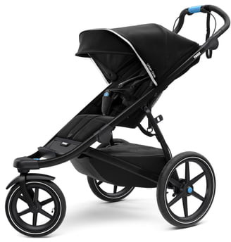 Thule Urban Glide 2 Jogging Stroller with Silver Frame