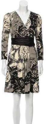 Max Mara Printed V-Neck Dress black Printed V-Neck Dress
