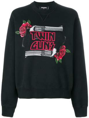 DSQUARED2 Twin Guns print sweatshirt