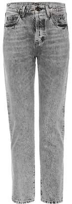 Saint Laurent High-waisted slim-fit jeans