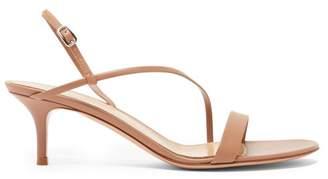 Gianvito Rossi Manhattan 55 Leather Sandals - Womens - Nude