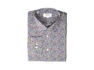 Eton Slim Fit Floral Print Button Down Shirt
