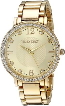 Ellen Tracy Women's ET5217GDBL Analog Display Analog Quartz Gold Watch