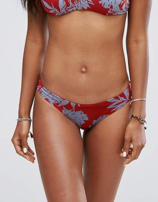 RVCA Floral Cheeky Bikini Bottom