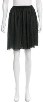 Alaia Silk Knee-Length Skirt