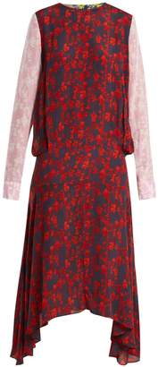 Preen Line Eimear panelled floral-print crepe dress