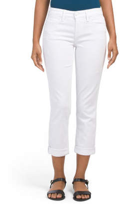 Lily Mid Rise Crop Roll Jeans