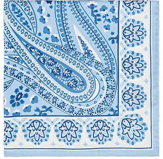 Fairfax Men's Paisley Floral Silk Twill Pocket Square