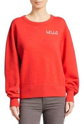 Rag & Bone Hello Cotton Embroidered Sweatshirt