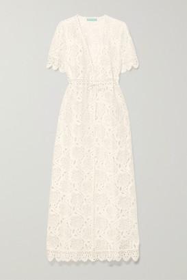 Melissa Odabash Gabrielle Cotton-blend Corded Lace Dress - Cream