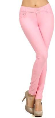 ICONOFLASH Women's Jeggings - Pull On Slimming Cotton Jean Like Leggings