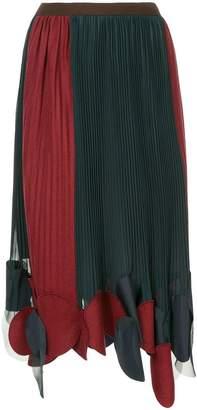 Kolor pleated midi skirt