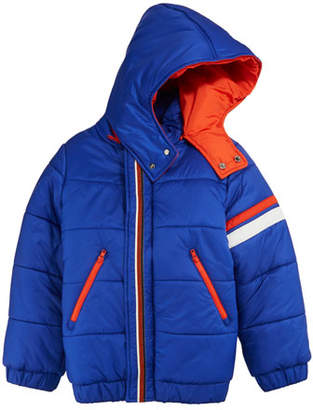 Stefano Ricci Hooded Zip-Front Ski Jacket, Size 10-14