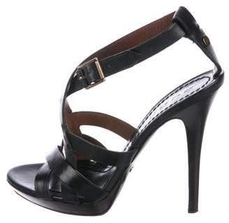Burberry Crossover Platform Sandals