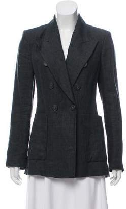 Isabel Marant Linen Double-Breasted Blazer