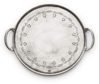 Arte Italica Vintage Round Pewter Serving Tray