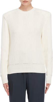 Jil Sander Ivory Shoulder Pad Sweater