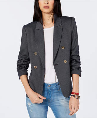 Tommy Hilfiger Striped Double-Breasted Blazer