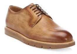 Saks Fifth Avenue BY MAGNANNI Burnished Leather Derby Creepers
