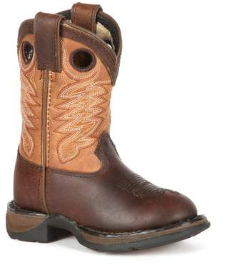 Durango Lil Full Grain Raindrop Boys' 8-in. Cowboy Boots