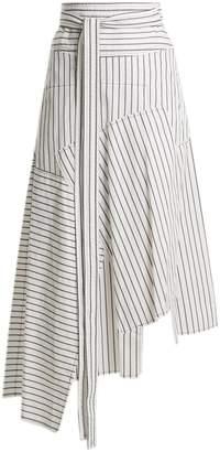 J.W.Anderson Tie-waist patchwork skirt