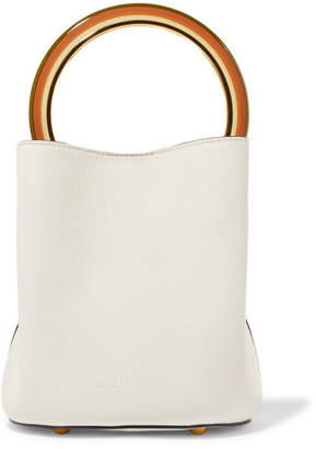 Marni Pannier Small Leather Bucket Bag - White
