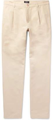 A.P.C. Florian Slim-Fit Cotton And Linen-Blend Gabardine Chinos