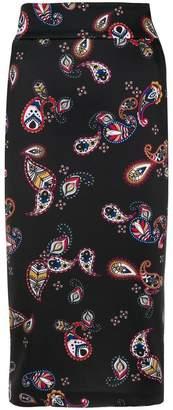 Pinko paisley print pencil skirt