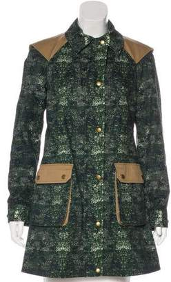 Gryphon Printed Short Coat
