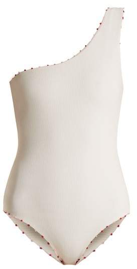 Santa Barbara french-knot edged swimsuit