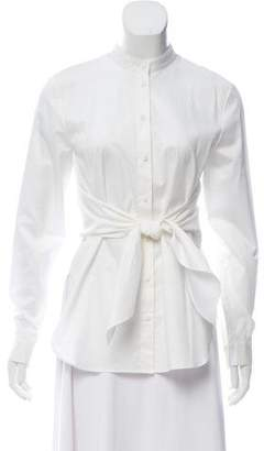 Tibi Long Sleeve Button-Up Tunic