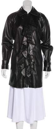 Ralph Lauren Short Leather Coat