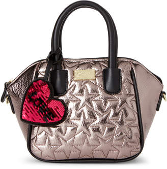 Betsey Johnson Luv Betsey By Pewter Quinn Mini Satchel
