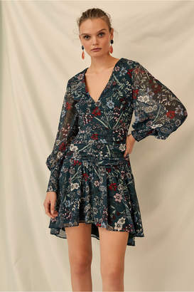 Keepsake ENCHANTED LONG SLEEVE DRESS forest green floral