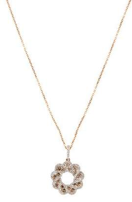 14K Diamond Wreath Pendant Necklace