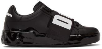 Dolce & Gabbana Black Elastic Logo Sneakers
