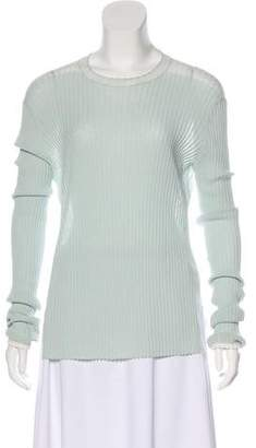 Celine Rib Knit Long Sleeve Top